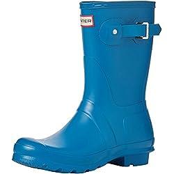 Hunter Wellington Boots, Botas de Agua para Mujer, Azul (Blue/Rob), 37 EU