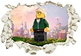 Unified Distribution Lego - Ninjago - Wandtattoo mit 3D Effekt, Aufkleber für Wände und Türen Größe: 92x61 cm, Stil: Durchbruch