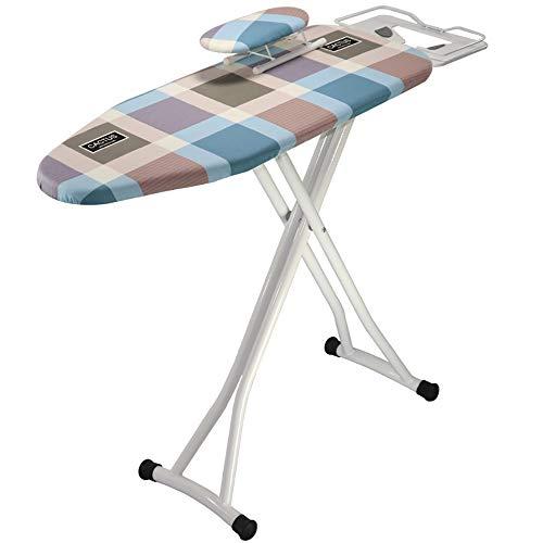 ANFAY Faltbare Bügelbrett Und Sleeve Board Anti-skalieren Dampf Eisernen Regal Anti-Staining Baumwoll Filz Einstellbar 6-stufige Höhe Tragbaren Bügeltisch,90x30cm