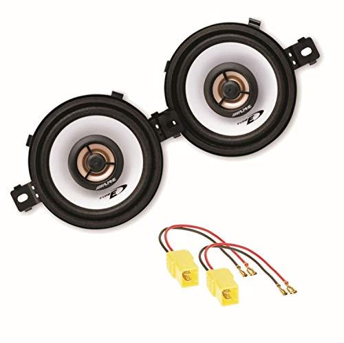 Alpine SXE-0825S 2 Wege Koaxial Lautsprechersystem Armaturenbrett für FIAT Punto Typ 176
