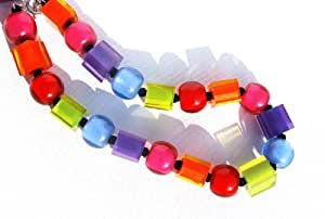 Spectrum Ladies Large Beads And Cubes Necklace 60101150400q20