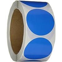 Generic dl613C inventario círculo etiquetas, 2cm de diámetro, luz azul