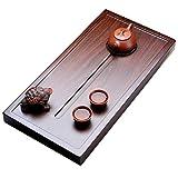 Kung Fu Tee-Behälter Chinesisches Ebenholz Kung Fu Tee-Behälter Hauptmode-Tee-Meer-Teetisch Japanischer Rechteckiger Fester Hölzerner Teetisch Zen-Tee-Tee-Satz (Size : 60x30x4.5cm)