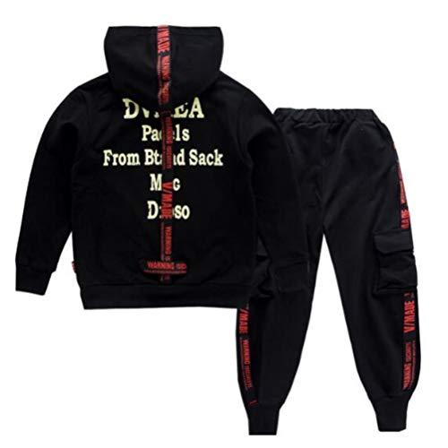 Jungen Trainingsanzug Jacke,Kinder Jungen Jacke Sportanzug Trainingsanzug Jacke Bomerjacke Hose Sport Kapuzenpulli Hosen Jogginghose