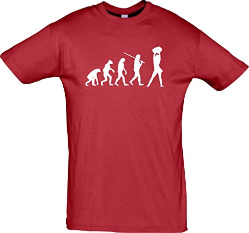 Krokodil T-Shirt Evolution Cheerleader Cheerleading Kostüm Fun Sport Tanz, Farbe Rot, Größe - Evolution Of Dance Kostüm