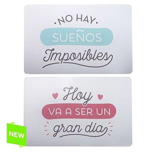 Individual plastico con frases originales Pack 4 piezas