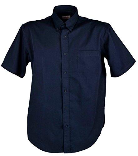 IWEA Basic Herren Business & Freizeit Hemd Kurzarm Regular Fit Casual Shirt IW021, Marineblau, 2XL