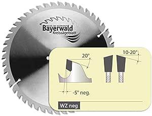 Bayerwald - HM Kreissägeblatt für Holz - Ø 254 mm x 2,8 mm x 30 mm   WZ negativ (60 Zähne)   für Metabo KGS 254   Kombinebenlöcher