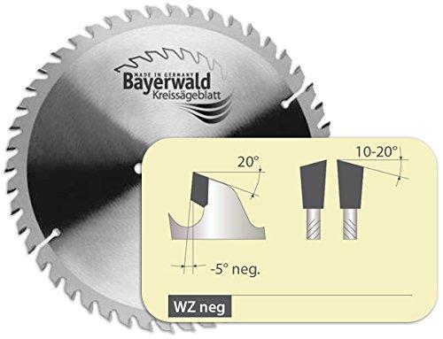 Bayerwald - HM Kreissägeblatt für Holz - Ø 216 mm x 2.6 mm x 30 mm | WZ negativ (48 Zähne) | für Kapp- & Gehrungssägen | Nebenlöcher: 2/7/42