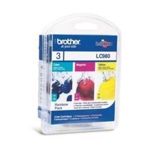 Preisvergleich Produktbild Brother MFC-250 C (LC-980 RB) - original - Tintenpatrone MultiPack (cyan, magenta, gelb) - 260 Seiten