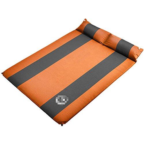 Doppelte Wasserdichte Tragbare Dicke Aufblasbare Matratze Aufblasbare Pad,Orange
