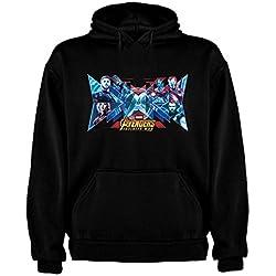 Sudadera de HOMBRE Vengadores Infinity Hulk Thor Capitan America XL Negro