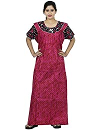 OSF Dots Design Printed Round Neck Cotton Nighty for Ladies Nightwear Full  Length Women Night Gown 4bdcea27d