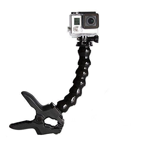 Yantralay Jaws Flex Clamp Mount with Adjustable Gooseneck for GoPro Hero, SJCAM, Yi   Other Action Cameras