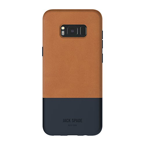 JACK SPADE Color-Block Case Hülle für Samsung Galaxy S8+ - Fulton Tan/Marineblau
