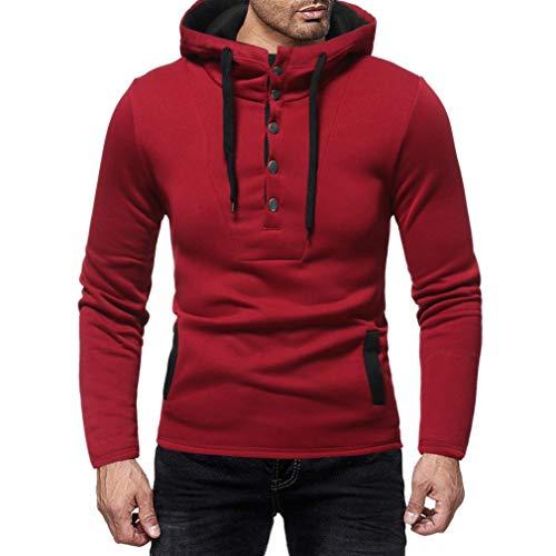SuperSU Männlich Pullover Longsleeve Hoodie Sweatshirt Basic Rundhals -