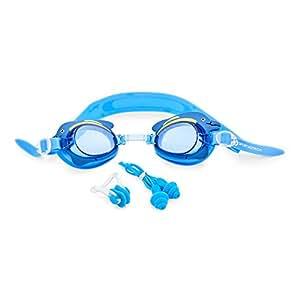 """VERGLEICHSSIEGER: Premium Kinder Schwimmbrille """"Swim Buddy Dolphin"""" von Sportastisch :: Farbe: BLAU :: verstellbare Nasenbrücke für perfekte Passform :: Anti-Beschlag-Schutz für klare Sicht :: verspieltes Design, das Freude auf Schwimmen und Wasser macht :: Nasenklammer & Ohrstöpsel :: geprüfte Markenqualität :: ideale Schwimmbrille für Kinder von 3 bis 10 Jahre :: leicht verstellbarer Verschluss :: kostenloser Bonus: E-Book """"Schwimmtraining"""" :: inklusive 3 Jahren Sportastisch Produktgarantie"""