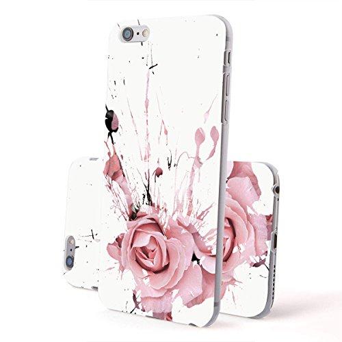 finoo | Iphone 5/5S Hard Case Handy-Hülle Blumen Motiv | dünne stoßfeste Schutz-Cover Tasche mit lizensiertem Muster | Premium Case für Dein Smartphone| Blumen Anker Blumen Fleck 05