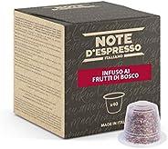 Note D'Espresso Capsule Compatibili con Sistema Nespresso, Infuso ai Frutti di Bosco, 40