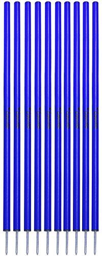 Cawila Slalomstangen, 10er Set, verschiedene Farben (blau)
