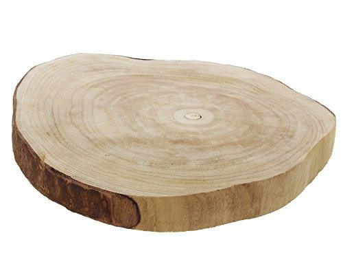 FRANK FLECHTWAREN Deko-Scheibe Wood Ø 40 x 5 cm Paulownia-Holz naturbelassen
