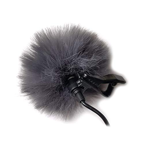 Mini Wind-Filter Pop-Filter für Lavalier Mikrofon   grau   Windshield Fell-Windschutz Fell-Schutz   MIND CARE ESSENTIALS