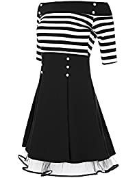 Laeticia Dreams Damen Matrosen Pin Up Petticoat Rockabilly Kleid 50er S M L XL
