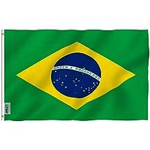 Anley? Fly Breeze 90 x 150 cm Bandera Brasil - Colores Vivos y Resistentes a