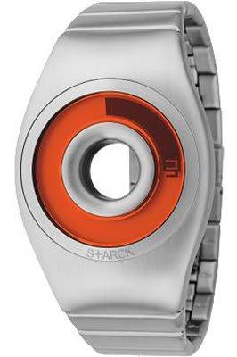 Philippe Starck PH1107 - Orologio da polso unisex, cinturino in acciaio inox colore argento