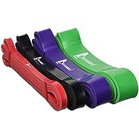 (4 Stück) Bramble Fitness Widerstand bänder – Premium Latex Klimmzug band, Fitnessbänder mit Loop / Gummi Band... preisvergleich bei billige-tabletten.eu