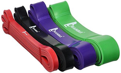 Bramble fasce elastiche di resistenza - fasce in gomma per allenamento – bande ideali per pull up, pilates, stretching, powerlifting, squat, panca, crossfit ed esercizi per aumento forza resistenza e