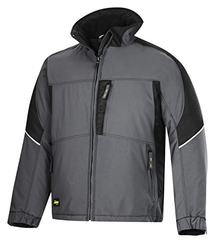 Snickers Power Winter Jacke schwarz, Gr.  XL Regular Stahlgrau-schwarz