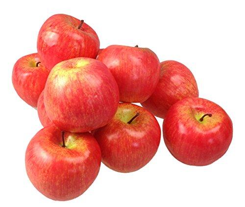 Deko Äpfel Apfel 10 Stück rot Kunstobst Kunstgemüse künstliches Obst Gemüse Dekoration (Obst-dekoration)