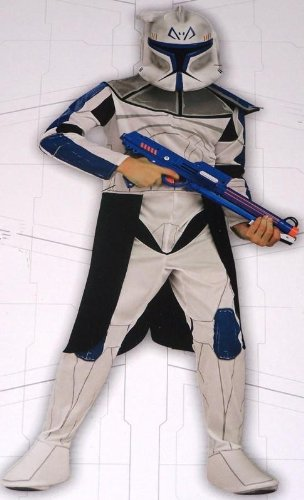 Original Lizenz Star Wars Clone Trooper Captain Rex Clonewars Starwars Kostüm für Kinder Clonetrooper Gr. 128 - (Trooper Wars Star Kostüm)