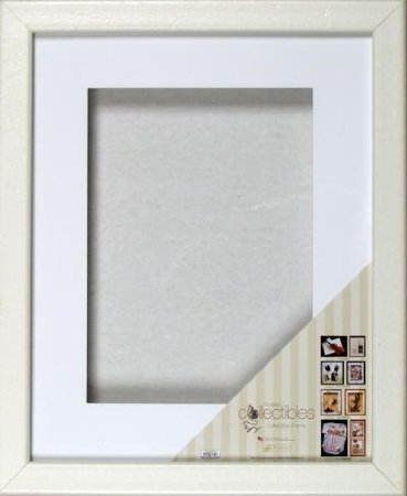 Zeitloses Expressions Shadow Box Rahmen, 8x 1011/5,1cm weiß (Box Rustikale Holz-shadow)