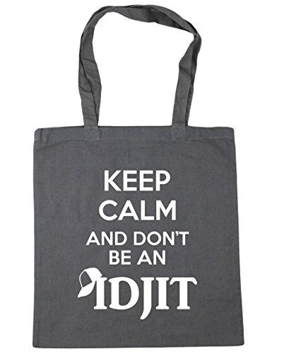 hippowarehouse-keep-calm-and-dont-be-an-idjit-tote-shopping-gym-beach-bag-42cm-x38cm-10-litres