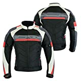 LeatherTeknik MOTORCYCLE ARMOURED ALTA PROTECCIÓN IMPERMEABLE JACKET BLACK/RED ARMOURCJ-9412