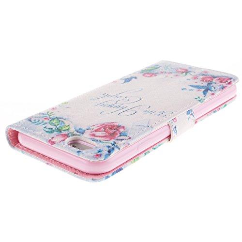 Ooboom® iPhone 5SE Hülle Flip PU Leder Schutzhülle Handy Tasche Case Cover Wallet Standfunktion mit Kartenfächer Magnetverschluss für iPhone 5SE - Formel To the Happy Couple