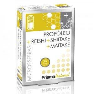 Foto de Prisma Natural Propóleo, Reishi, Shiitake y Maitake Suplemento - 30 Cápsulas