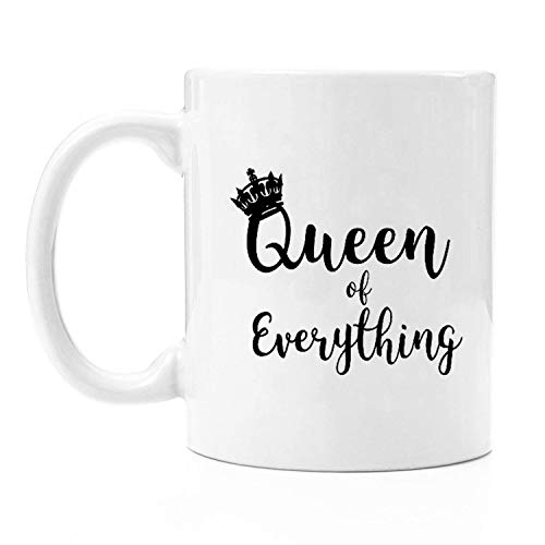 Funny Couples Coffee Mugs - Queen of Everything -