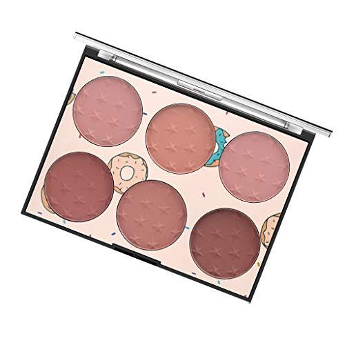Professionelle 6 Farben Gesicht Puder Rouge Blush Palette Make Up Kosmetik Set - DAKERTA (B) (Make-up Blush-palette Unter $5)