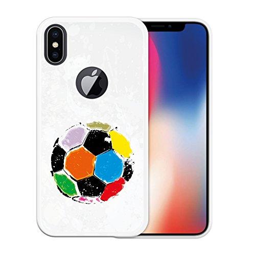 iPhone X Hülle, WoowCase Handyhülle Silikon für [ iPhone X ] Alien Warning Handytasche Handy Cover Case Schutzhülle Flexible TPU - Transparent Housse Gel iPhone X Transparent D0048