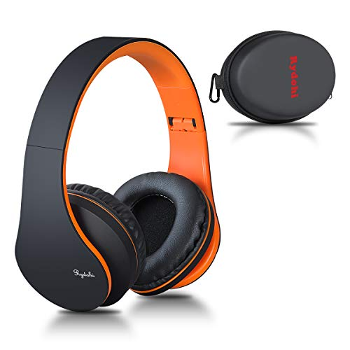 Bluetooth Over Ear Kopfhörer, Rydohi Wireless Stereo Headset Klappbares Kopfhörer mit Integriertem Mikrofon/FM Radio /MP3 Player für iPhone, Android, PC -