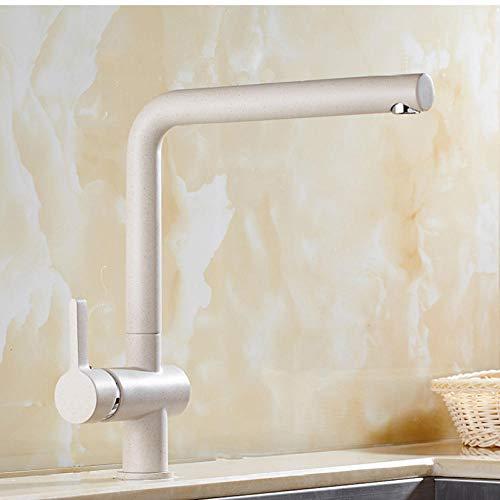 Wasserhahn 360 grad-umdrehung Haferflocken Farbe Messing Wasserhähne Hot/Cold Wirbel Auslauf Becken Waschbecken Mischbatterien Keramikventile für Bad Küche -