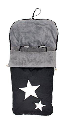 Alondra 643D-401 - Saco para silla de bebé universal, impermeable, bordado, color negro