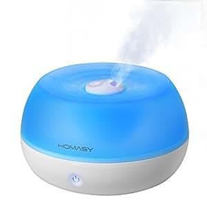 Homasy - Umidificatore e diffusore a ultrasuoni, 800 ml, funzionamento a vapore fresco, con funzione di spegnimento automatico