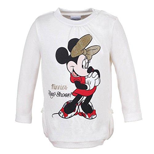 DISNEY Ragazze Topolina/Minnie Mouse Maglione, bianco, taglia 92, 2 anni