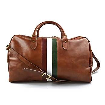 Leder reisetasche Italienische Flagge manner frauen Leder Handgepäck Schulter reisetasche leder honig weekend reisetasche sporttasche