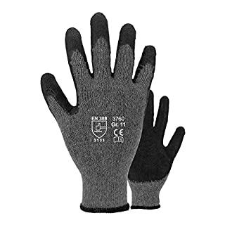 Asatex 3760 9 Latex-Handschuh, Grau, 9