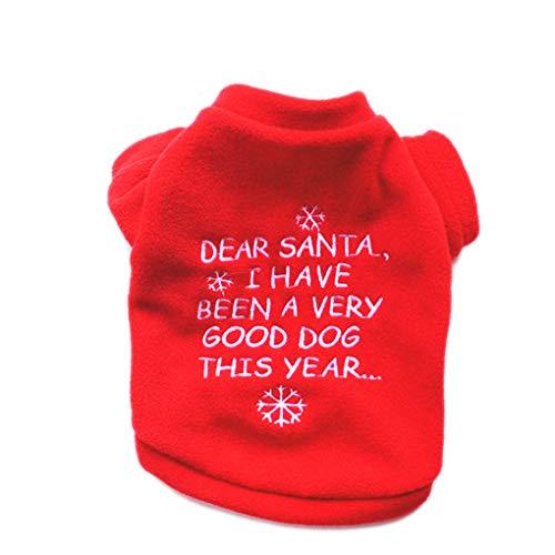 tshemd Fleece Kostüm Schneeflocken Haustier-Kleidung Hunde-Stickerei Hoodie Letters Sweatshirt Ferien ()
